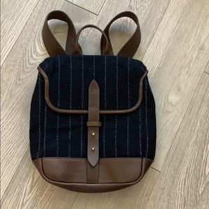 Small wool and leather backpack